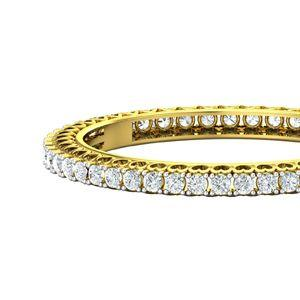a1e00daa75 Buy PreSet Natural Solitaire Diamond Bangles 14.40 CT / 42.30 gm Gold  Online at Lowest Price in India