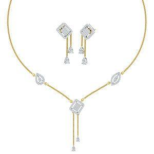 d87e6b22a Buy Diamond Necklace Set Online at Lowest Price in India