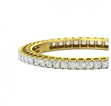 PreSet Solitaire Bangles 14.40 CT / 42.30 gm Gold