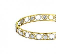 Diamond Bangles 1.12 CT / 8.50  gm Gold