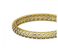 Diamond Bangles 2.52 CT / 21.00  gm Gold