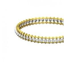 Diamond Bangles 1.19 CT / 18.00  gm Gold