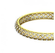 Diamond Bangles 1.38 CT / 19.30  gm Gold