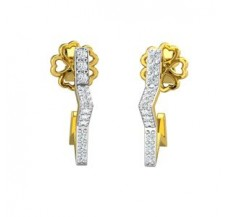 Diamond Earrings 0.144 CT / 2.40  gm Gold