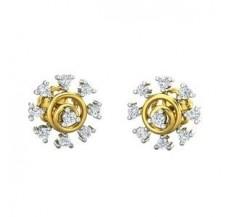 Diamond Earrings 0.22 CT / 2.95  gm Gold