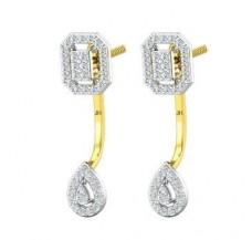 Diamond Earrings 0.83 CT / 5.20 gm Gold