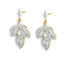 Diamond Earrings 1.09 CT / 5.77 gm Gold