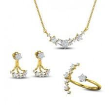 Diamond Tanmaniya Set -FullSet - 0.93 CT / 06.50 gm Gold