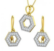 Diamond Pendant Half Set - 0.64 CT / 4.90 gm Gold