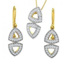 Diamond Pendant Half Set - 1.08 CT / 7.85 gm Gold