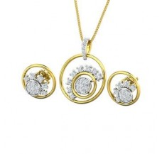 Diamond Pendant Half Set - 0.62 CT / 5.30 gm Gold