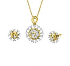 Diamond Pendant Half Set - 0.55 CT / 4.90 gm Gold