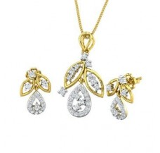 Diamond Pendant Half Set - 0.70 CT / 5.65 gm Gold