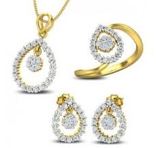 Diamond Pendant FullSET - 1.55 CT / 7.37 gm Gold