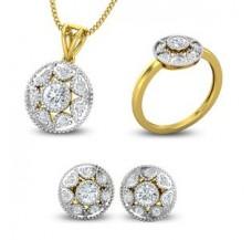 Diamond Pendant FullSet - 1.18 CT / 6.55 gm Gold