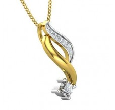 Diamond Pendant 0.07 CT / 1.23 gm Gold
