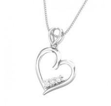 Diamond Heart Pendant 0.11 CT / 1.20 gm Gold