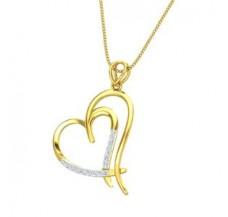 Diamond Heart Pendant 0.16 CT / 2.20 gm Gold