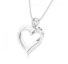 Diamond Heart Pendant 0.26 CT / 2.00 gm Gold