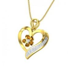 Diamond Heart Pendant 0.12 CT / 2.30 gm Gold