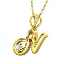 Diamond & Gemstone Pendant 0.06 CT / 2.89 gm Gold
