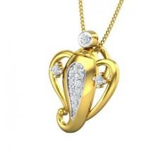 Diamond Pendant 0.16 CT / 1.40 gm Gold