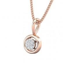 Diamond Pendant 0.03 CT / 0.45 gm 18k Rose Gold