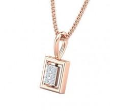 Diamond Pendant 0.03 CT / 0.42 gm 18k Rose Gold