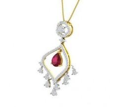 Diamond & Gemstone Pendant Gold