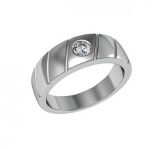 Diamond Solitaire Ring for Men 0.25 CT / 9.00 gm Gold