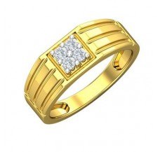 Diamond Ring for Men 0.24 CT / 5.34 gm Gold