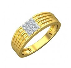 Diamond Ring for Men 0.22 CT / 5.76 gm Gold
