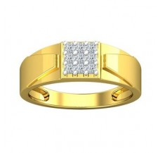 Diamond Ring for Men 0.27 CT / 4.95 gm Gold
