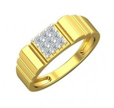 Diamond Ring for Men 0.27 CT / 4.94 gm Gold