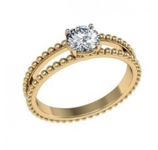 Diamond Solitaire Ring  0.25 CT / 4.00 gm Gold