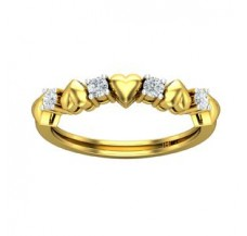 Diamond Heart Ring 0.20 CT / 2.41 gm Gold