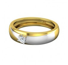 Diamond Band Men 0.15 CT / 5.30 gm Gold