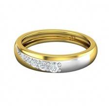 Diamond Band for HER 0.21 CT / 3.20 gm Gold
