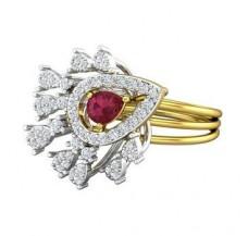 Diamond & Gemstone Gold Ring